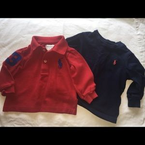 Boys-Ralph Lauren Long sleeve polo and top-6months